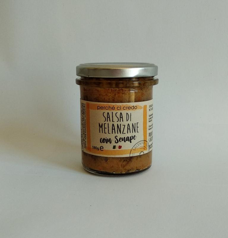 AUBERGINE SAUCE - with Mustard,Italy, PERCHE' CI CREDO