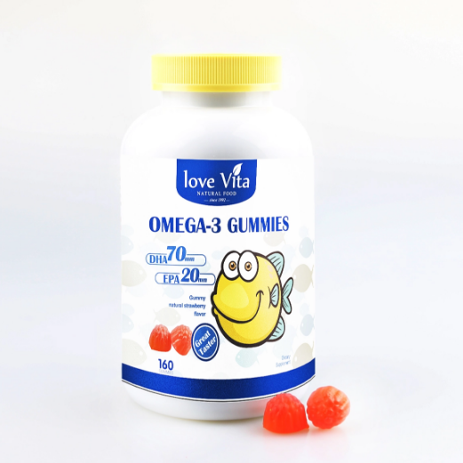 Chinese Brands Health Fruit Soft Candy OMEGA-3 Gummy For Children