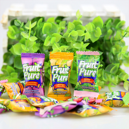 Supply imported fruit candy, milk candy, soft candy and other sweets, mixed fruit flavor packaging, fruit super soft candy