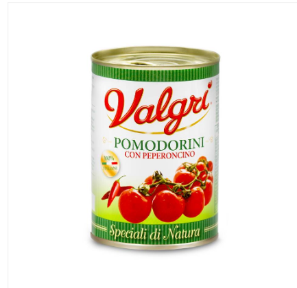 VALGRI Cherry Tomatoes+ Chili Pepper, instant food, ready to eat, Italy, vegetable,canned food