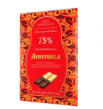 Annushka Bitter chocolate sticks 75% cocoa