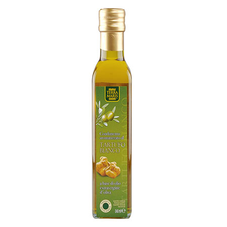 White truffle flavoured condiment with extra virgin olive oil 240ml 100% Handmade Italy, condiments, instant food, EUROPI S.r.l