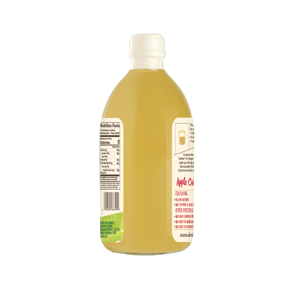 DE NIGRIS ORGANIC APPLE CIDER VINEGAR, FRUIT VINEGAR, Unfiltered; 5%acidity, 100% FROM ITALY, CONDIMENT