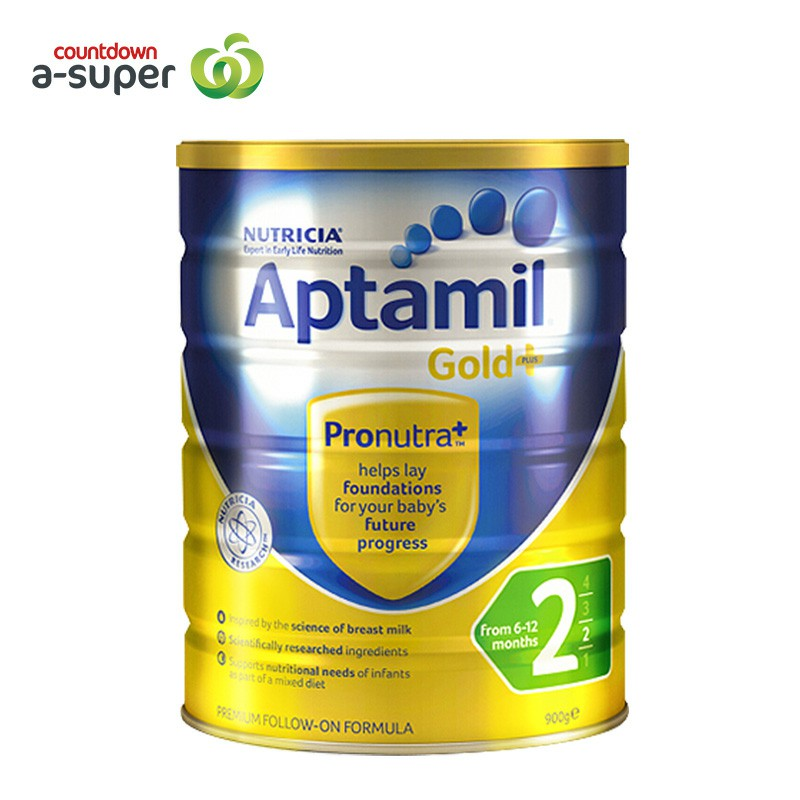 Aptamil loves his 2 pack 900g/ cans of infant formula milk powder.