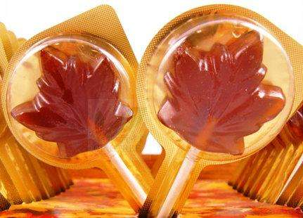 Maple syrup flavor lollipop from Canada