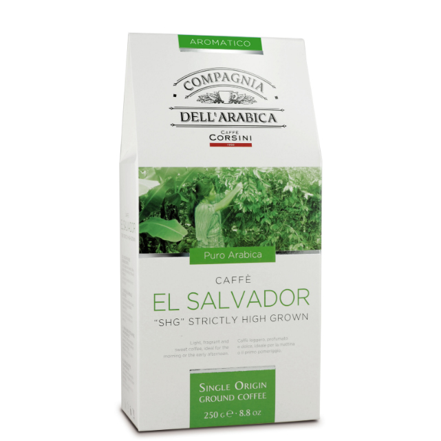 El Salvador SHG ground coffee 250gr Italy