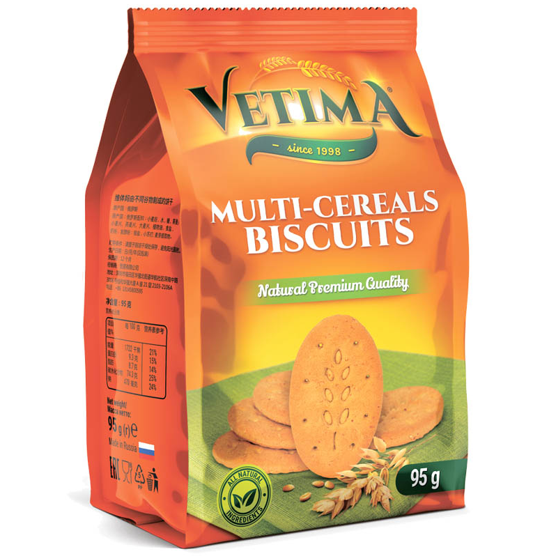 Russian traditional Multi-cereals bisquits