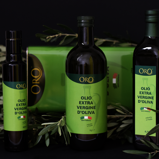 ORO Extravergine  100% ITALY Extra Virgin Olive Oil, condiment