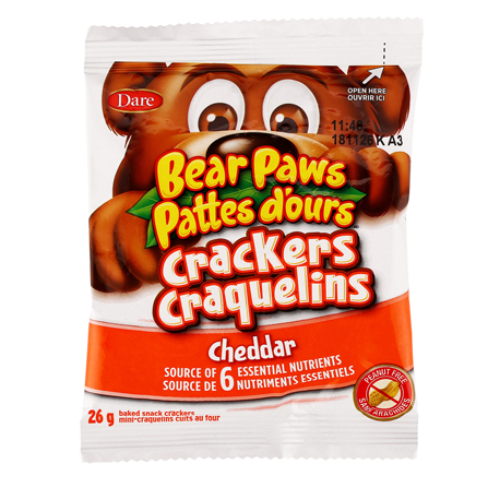 Brave bear Cheddar cookies