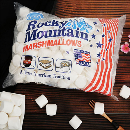 Imported candy, nougat, marshmallow, snow cake, imported from the United States, imported from the United States, Rockies