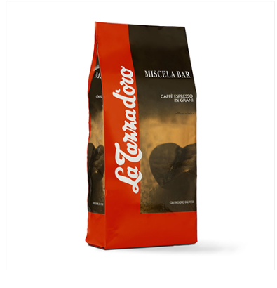 MISCELA BAR Espresso blend whole beans with coffee origins from Brasil, Ethiopia and India, Italy,