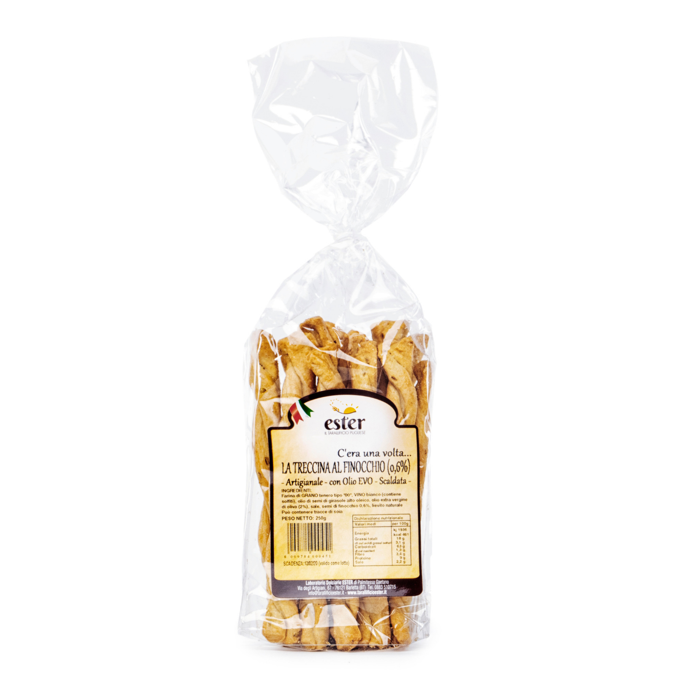 Ester Plain Treccine Baked Product Italy wheat,salted snack,biscuit