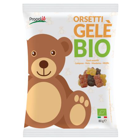 GOOD4YOU ORGANIC JELLY BEARS Organic Candies sweet/ snack/ dessert/Confectionary/ Italy KONTAK SAS