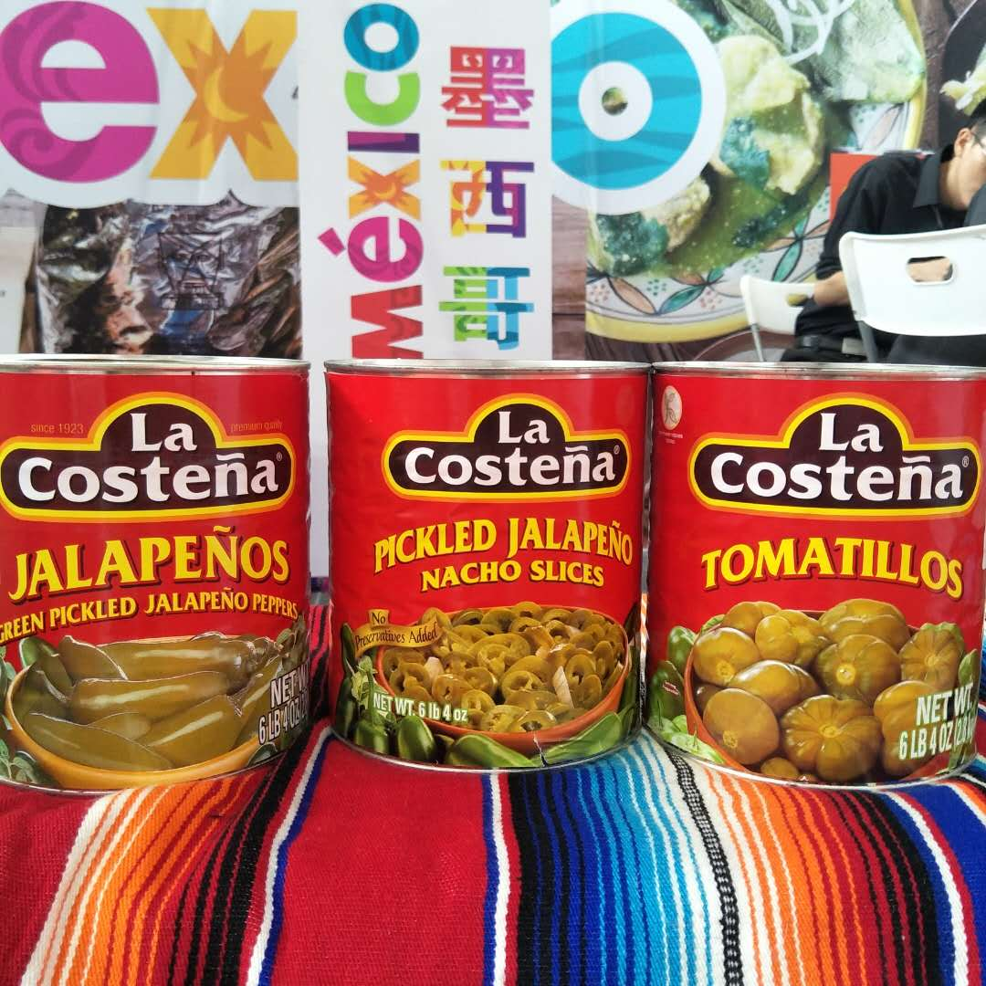 Canned raw materials for Western food