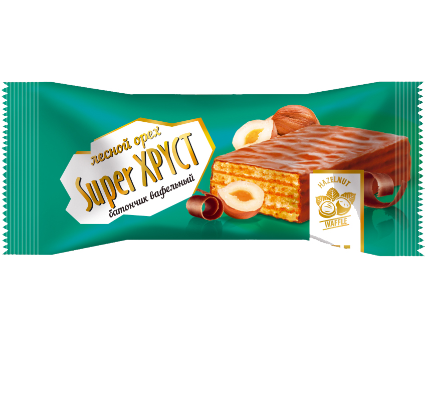 Glazed waffle bar with aroma of Super Crunch condensed milk