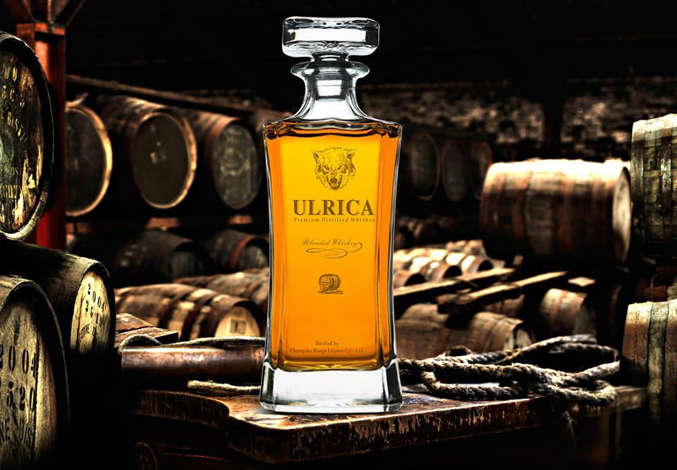 AFood 750ml Glass bottles spirits blended malt whisky