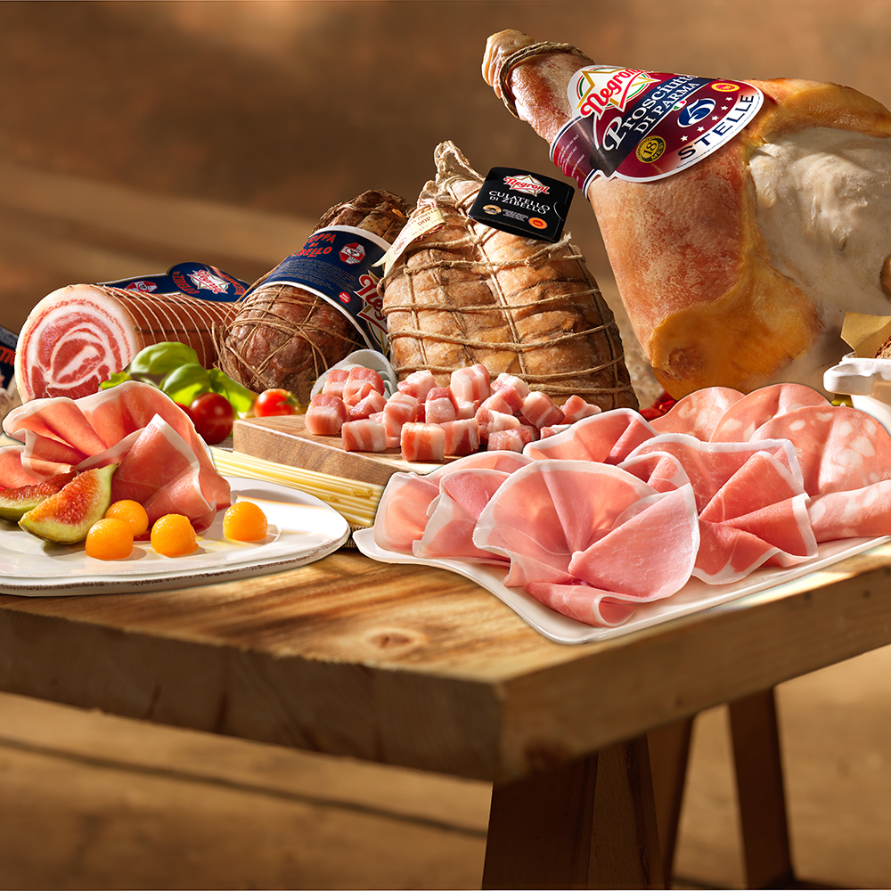 SPALLA COTTA Cooked Shoulder, 100% Italy meat  Negroni Instant food Processed Meat,  Cooked Ham