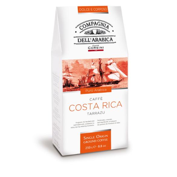 Costa Rica Tarrazu ground coffee 250gr Italy