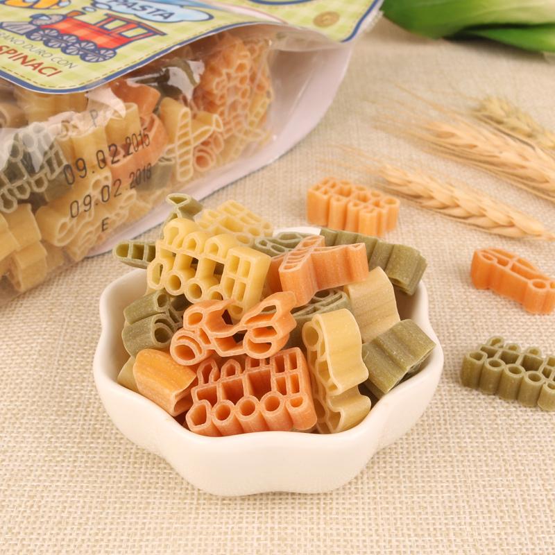 High protein organic soybean & onion pasta (Traffic Shape)