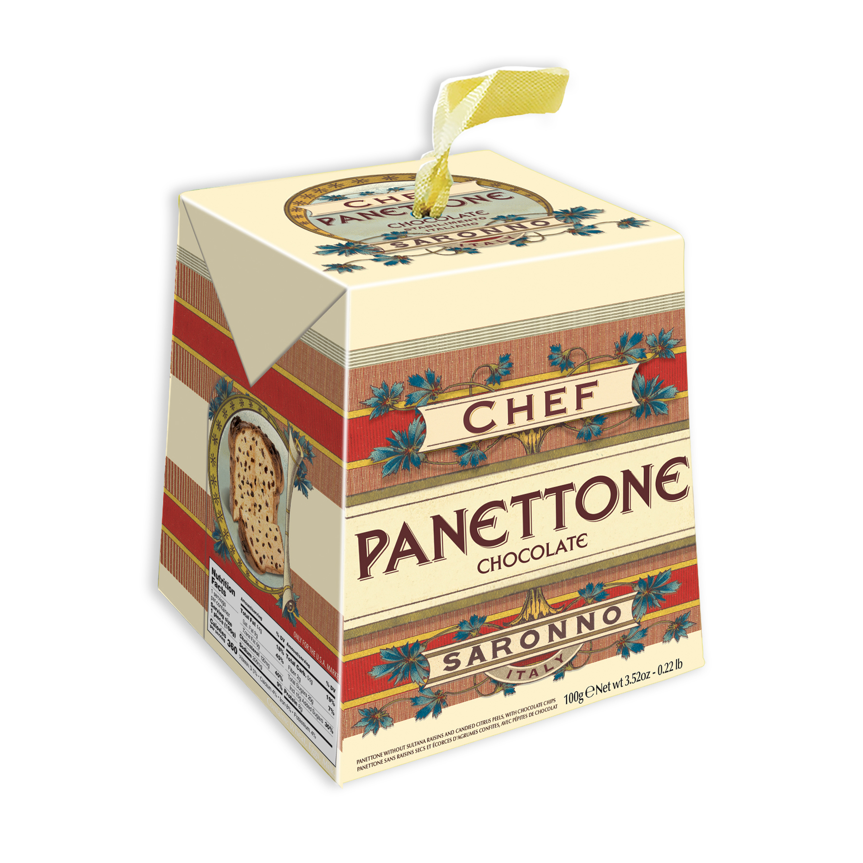 Panettone Chef specialty cake of Milan biscuits tasty snack/ dessert/Confectionary/ chocolate filling Bakery, Italy, Brand-Chef,Paolo Lazzaroni&Figli Spa