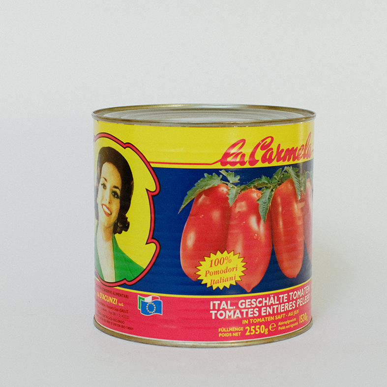 Whole Peeled tomatoes and tomatoes juice instant food canned food, ready-to-eat, Italy FRATELLI D'ACUNZI SRL