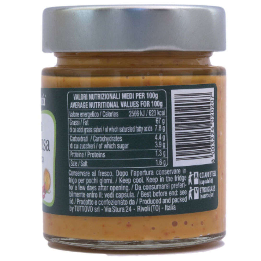 """""""Biobontà"""" Andalusa Sauce  130g - Organic, Gluten free, condiment ,Italy, TUTTOVO SRL"""
