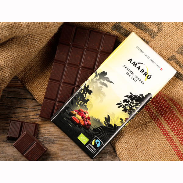 New design of delicious Amaru chocolate