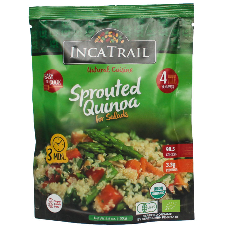 Sprouted Quinoa Salad flavoured Peruvian Cereal Products Dry sprouted quinoa