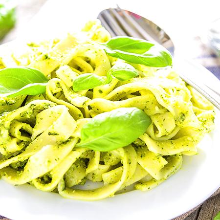 Italy Organic Green Pesto Green Sauce Glass Jar Condiment 140g