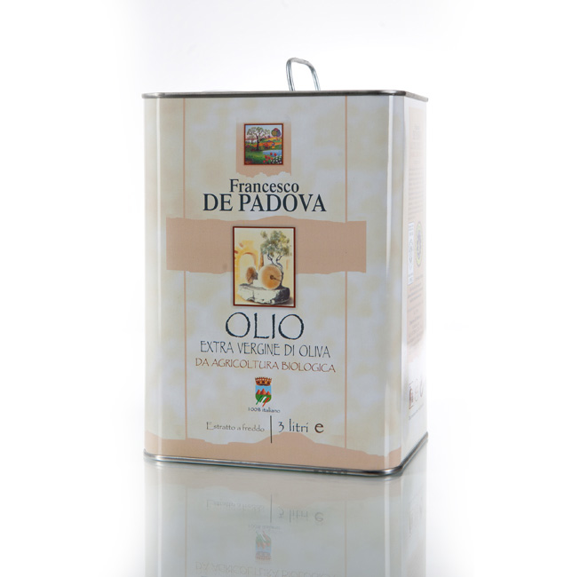 EXTRA VIRGIN OLIVE OIL FROM ORGANIC FARMING Cold Extraction - Francesco De Padova , Cantina Bosco, 100% Italy, condiments