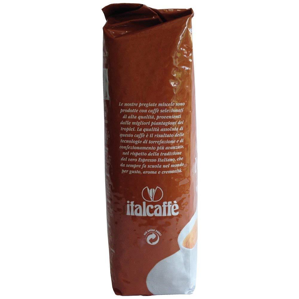 Dolce Crema Espresso Coffee Beans 1kg Italcaffè