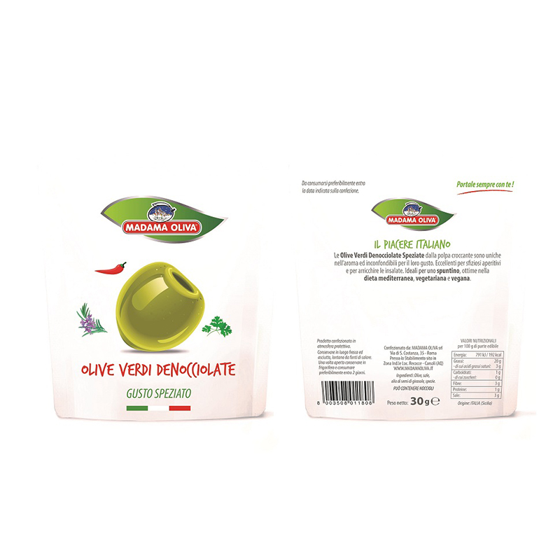 Pitted Green Olives spicy Italian Sicilian Olives Seedless Green Olives Nuclear free Olives