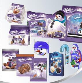 Supply Milka candy, biscuit, chocolate for 2019 Christmas