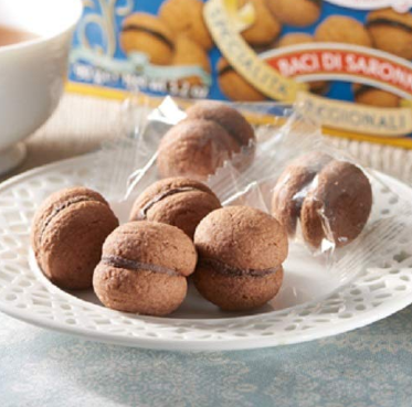 Baci di Dama(Kiss of Saronno) two round all butter pastry biscuits tasty snack/ dessert/Confectionar