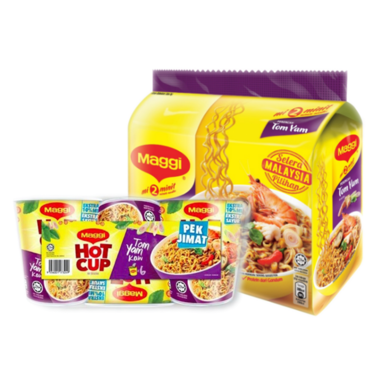 Malaysia Wholesale Instant Spicy Tom Yam Taste Noodles 5 x 80g