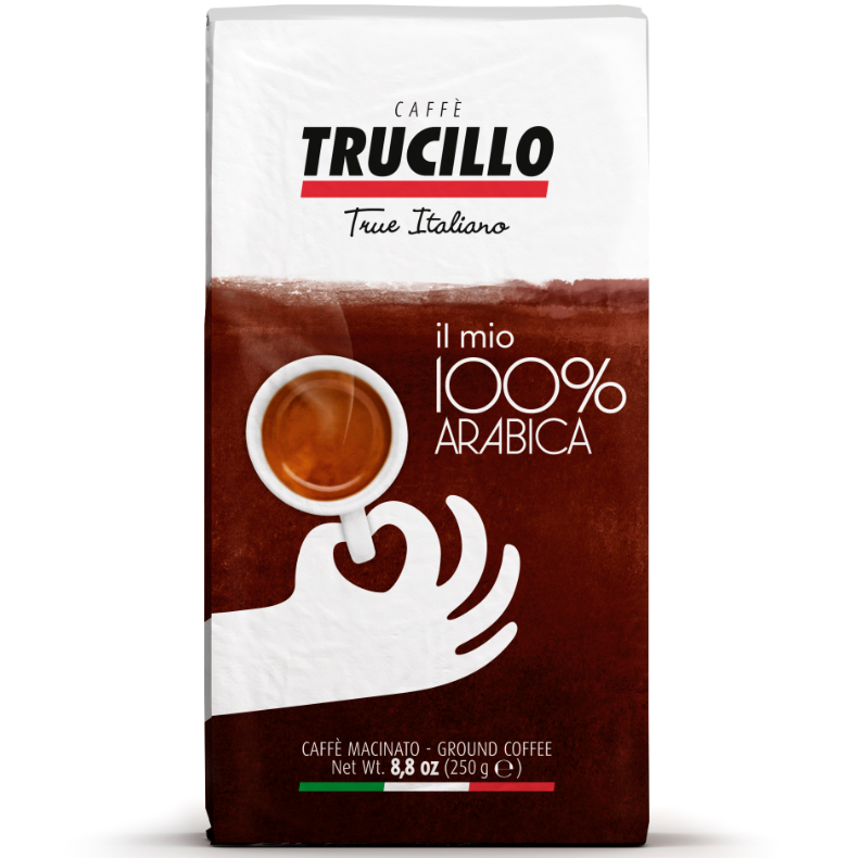 Italian coffee 100% Arabica 250 g. pack ground Trucillo from Italy