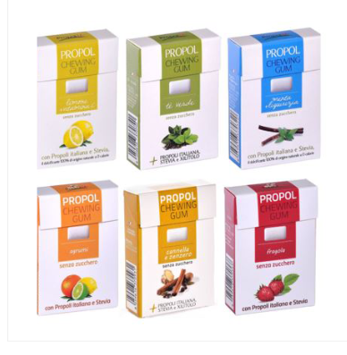 PROPOL Sugar free chewing gum with sweeteners., Organic Candy, Italy snack/ dessert/Confectionary/ K