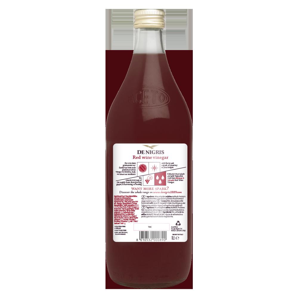 DE NIGRIS Red Wine vinegar 6% acidity , 100% FROM ITALY, CONDIMENT