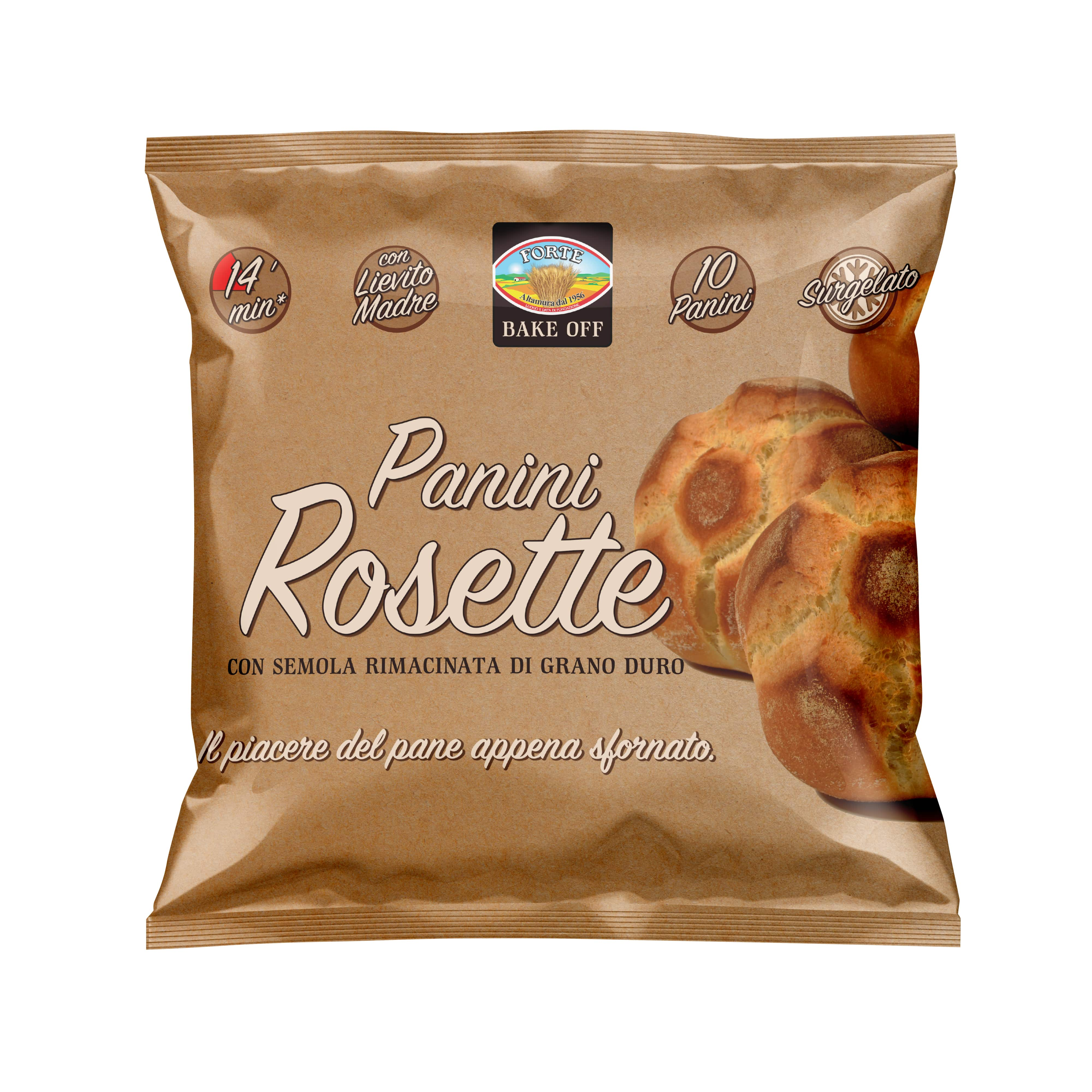 Bake-At-Home Rosetta bread rolls with durum wheat semolina 50gX10