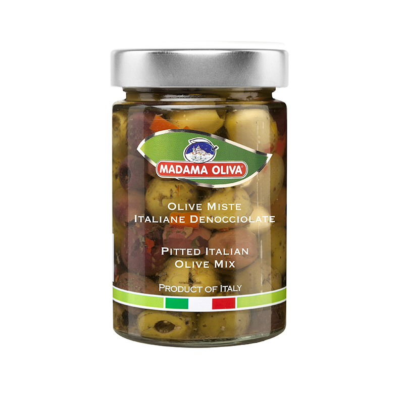 Pitted Italian Olive Mix Italian Conveniennce Food Italian Deshelled Olive