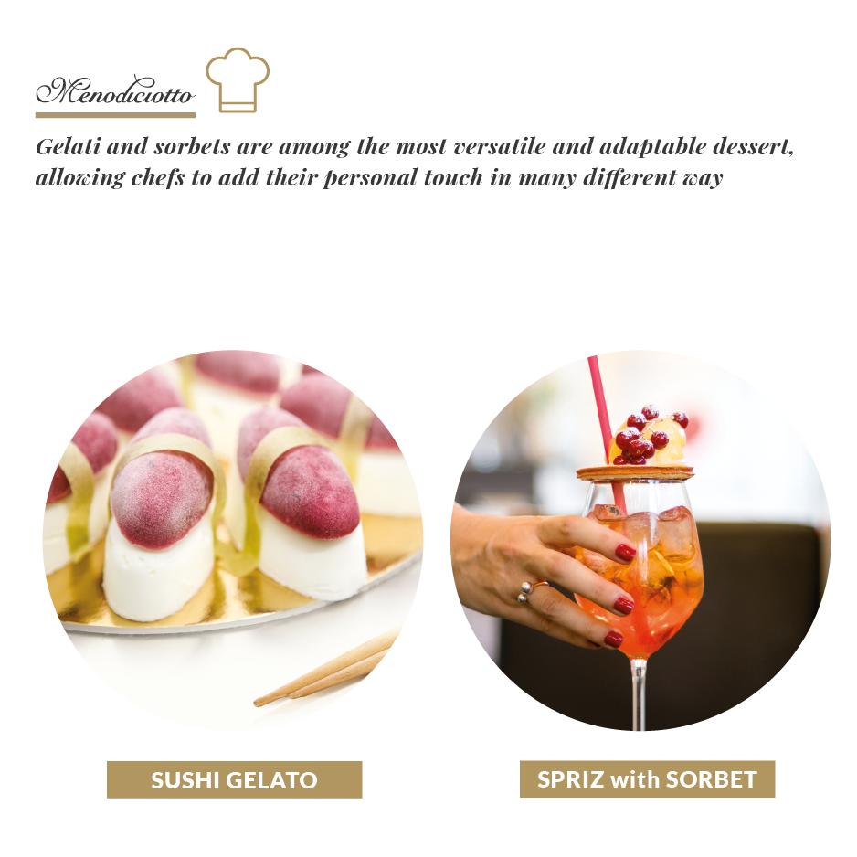 Italian Menodiciotto Gelato and Sorbet for Ho.Re.Ca. in tubs Italy ice cream