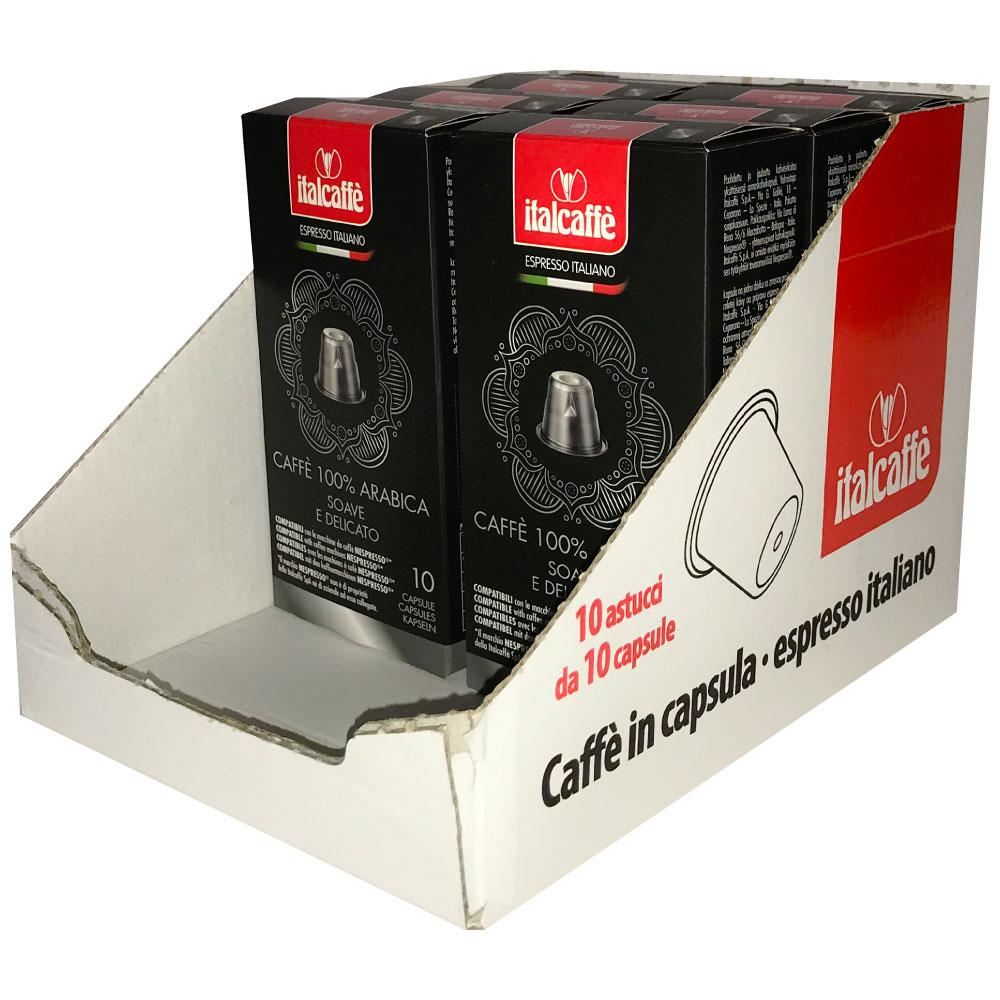 100 Nespresso 100% Arabica Compatible Coffee Capsules Pods Italcaffè Espresso