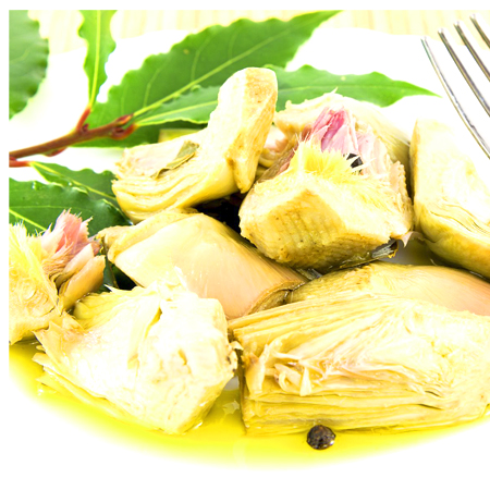 Organic Artichokes in Extra Virgin Olive Oil Artichoke Condiment Glass Jar