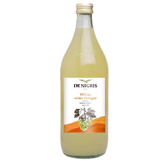 DE NIGRIS WHITE WINE VINEGAR 6% acidity, Organic Vinegars , 100% FROM ITALY, CONDIMENT