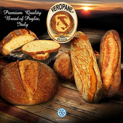 FROZEN ROUND PUGLIESE BREAD WITH DURUM WHEAT SEMOLINA 453G BAKERY&CEREAL/BAKED Italy OROPAN S.p.A.