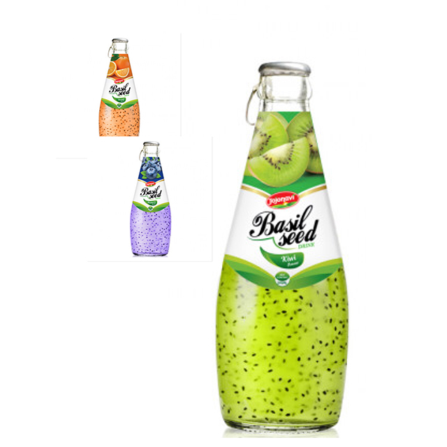 Sweet Basil Seed Drink with natural fruit flavor