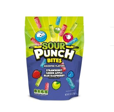 SOUR PUNCH Bites, Assorted Flavors Candy Pieces, 9oz Bag