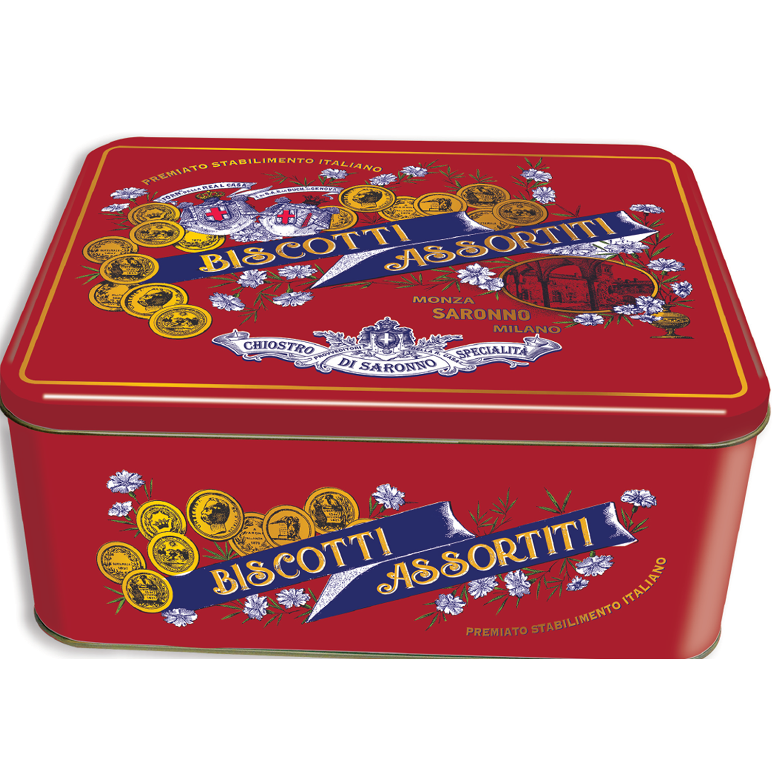 Italian Pastry Bicuits in Metal Tin biscuits tasty snack/ dessert/Confectionary/ Baked cake Bakery, Italy, Brand-Chef,Paolo Lazzaroni&Figli Spa