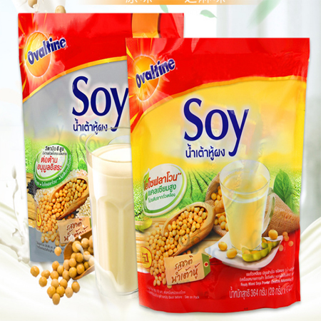 Wholesale instant soy milk powder, soy milk, nutritional breakfast, Ovaltine, Thailand
