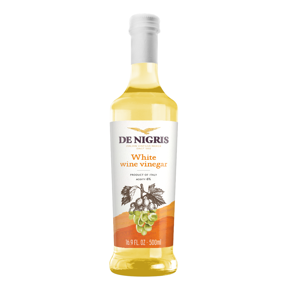 DE NIGRIS WHITE WINE VINEGAR  100% FROM ITALY, CONDIMENT